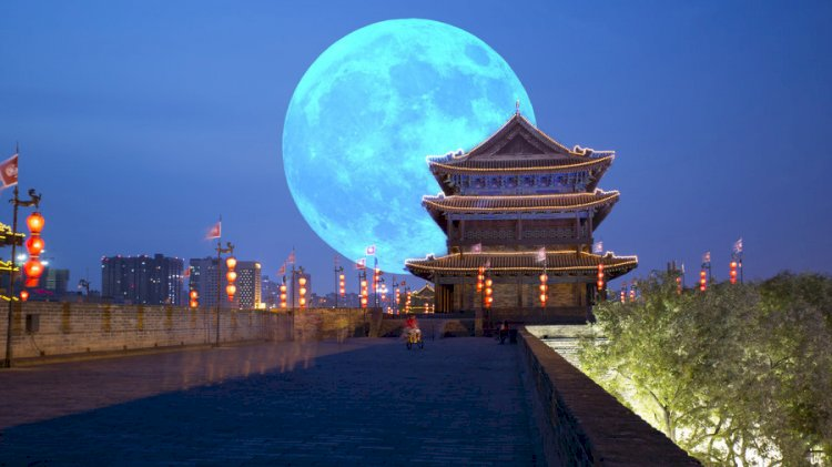 Artificial moon in the sky of China